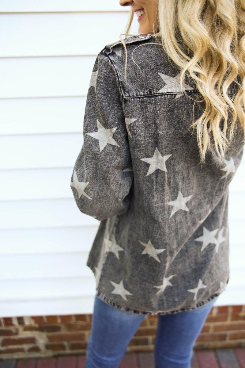 Star Washed Denim Jacket
