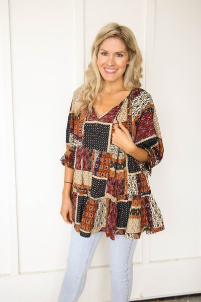 Pretty in Patches Top