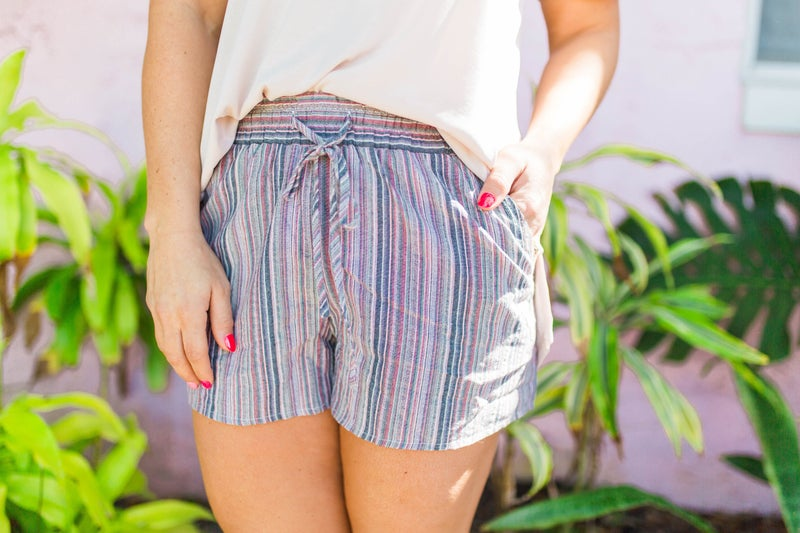 Happiness Begins Striped Shorts *Final Sale*