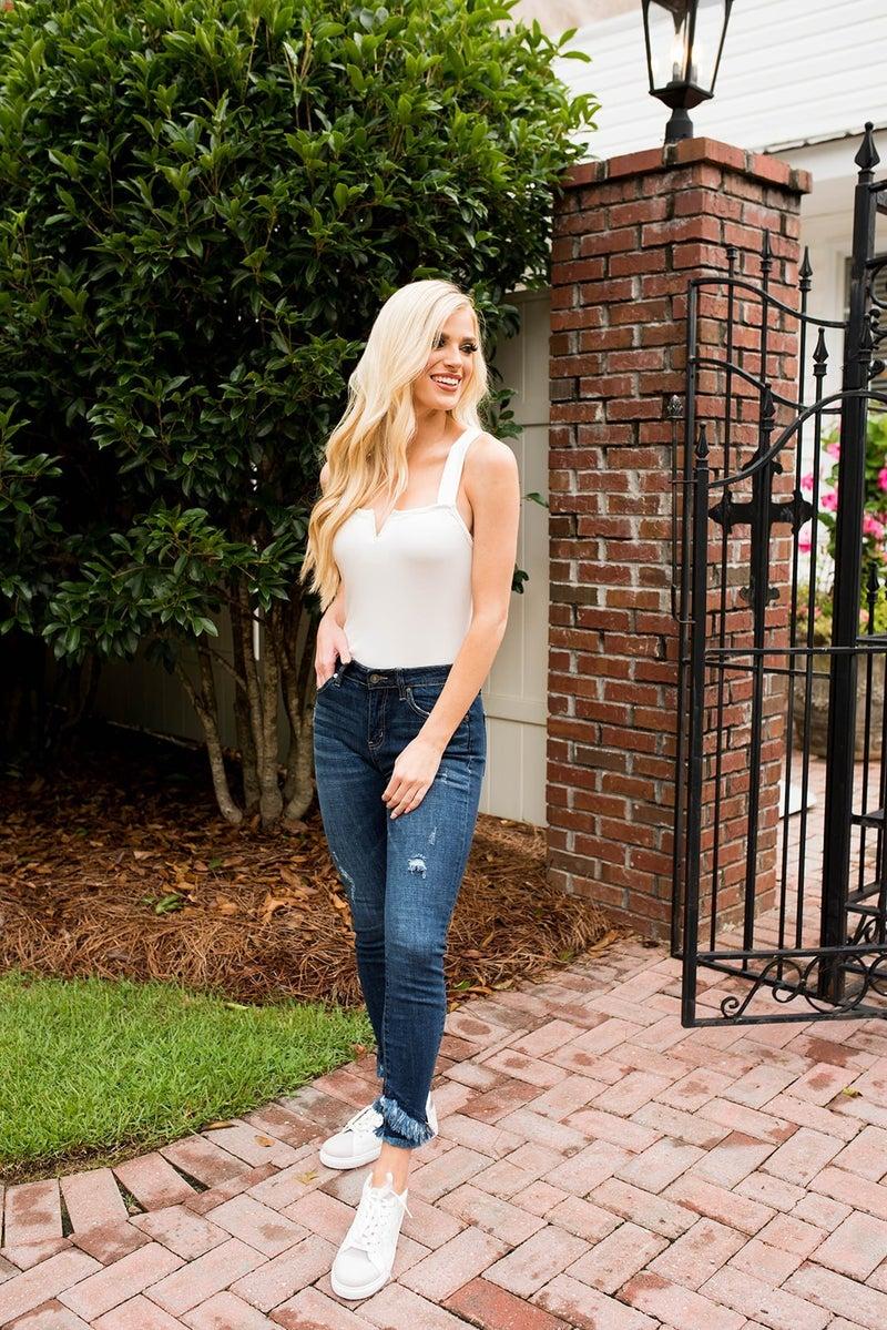 The Aspen Mid Rise Skinny Jeans