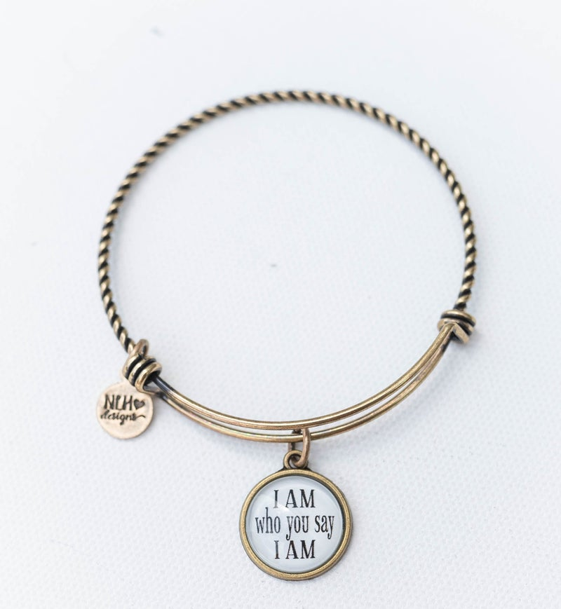 Bangle Bracelet I am who you say I am