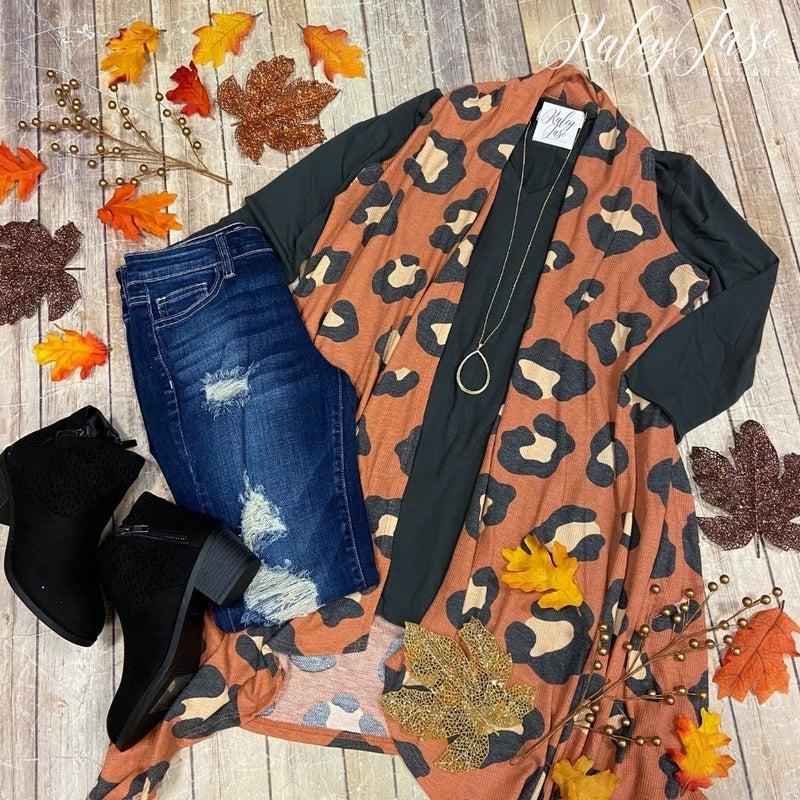 Modern Rust Leopard Vest