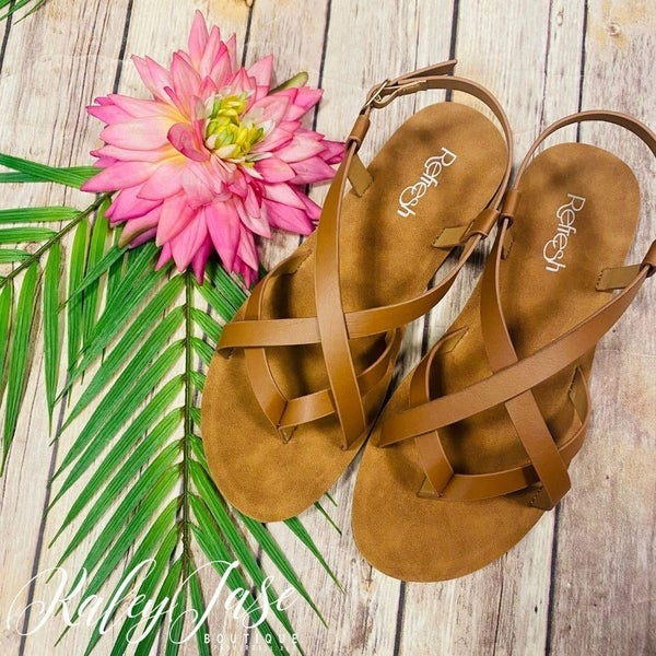 Tan Strappy Casual Sandal