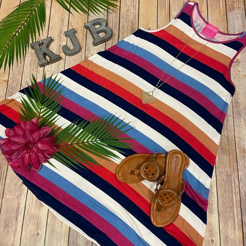 BB Casual Stripe Sleeveless Dress