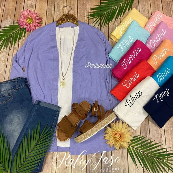 Simple Soft Pocket Cardigan