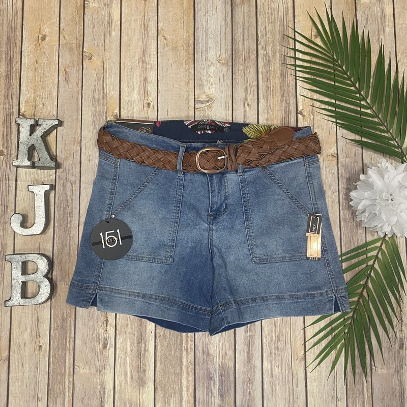 *Restocking Soon* One5One Belted Pocket Jean Shorts