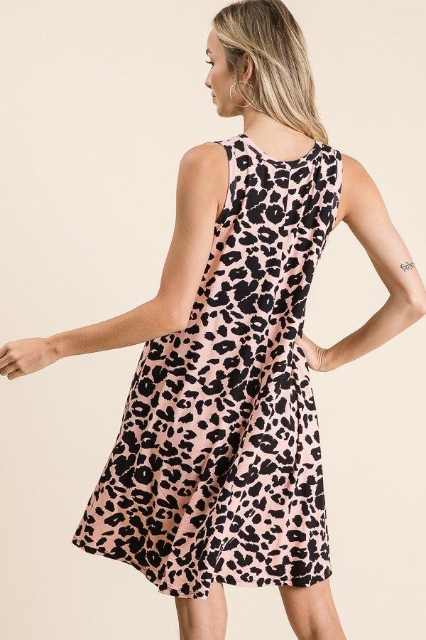 Pink Leopard Swing Dress