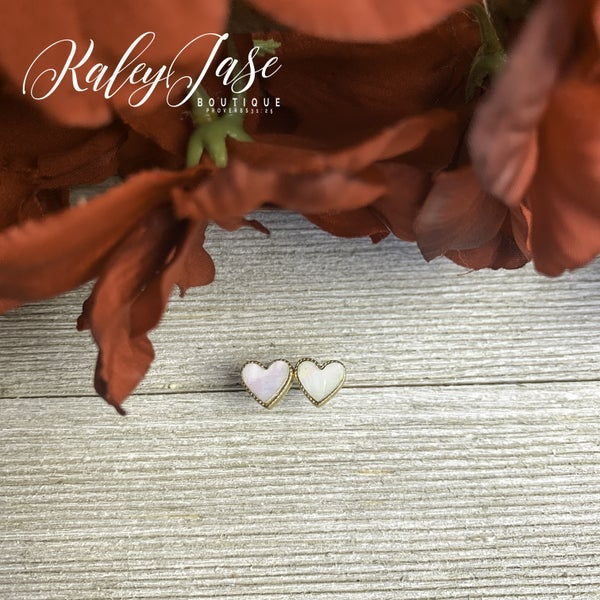 Heart Stud Earrings -A6