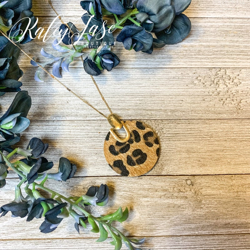 Cheetah Circle Necklace #17