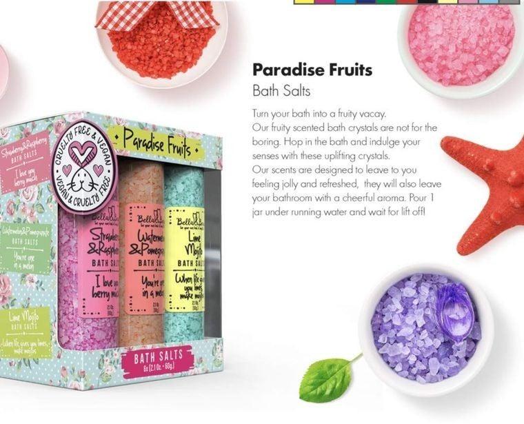 Paradise Fruits Bath Salt Set