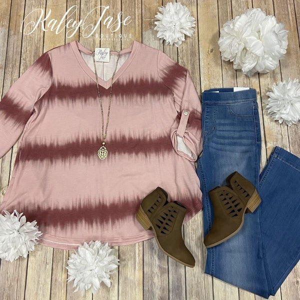 SIL Blush Mauve Ombre  Top *Final Sale*