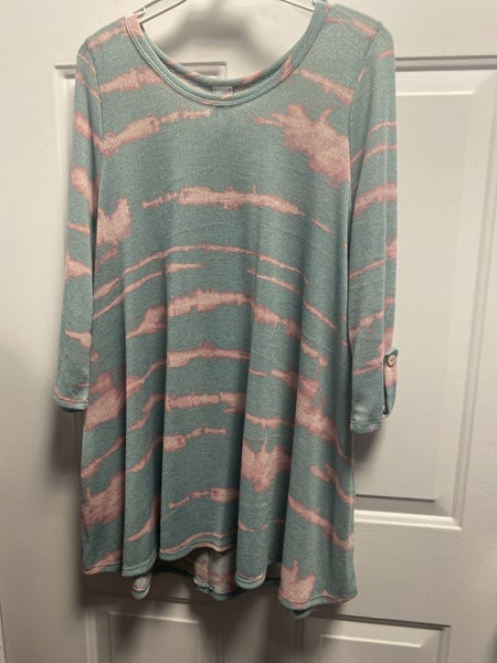 HM Mint Pink Button Back Tunic