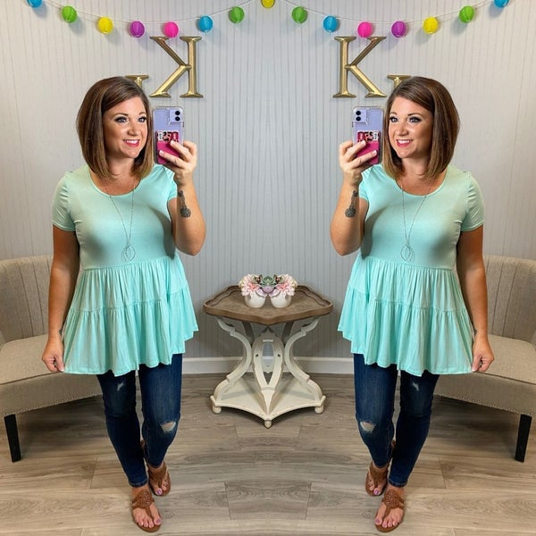 Babydoll Tiered Top