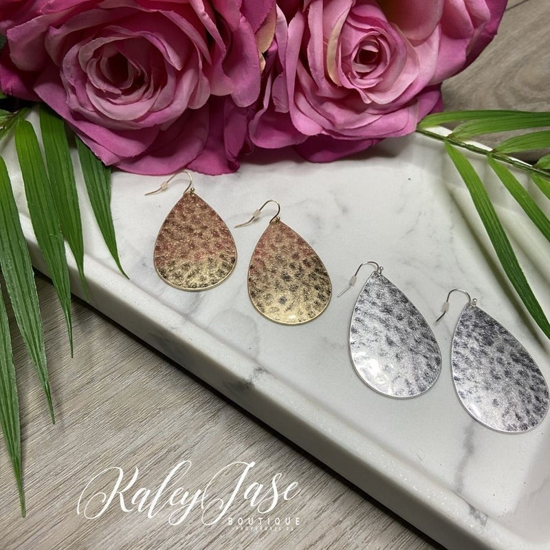 Textured Drop Earrings -A2