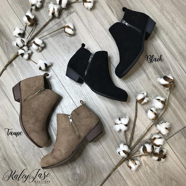 Fall Zip Up Side Booties