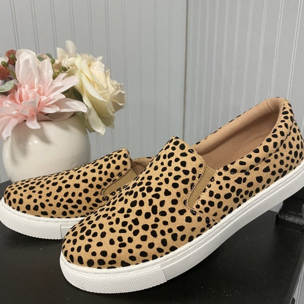 Cheetah Slide on Shoes