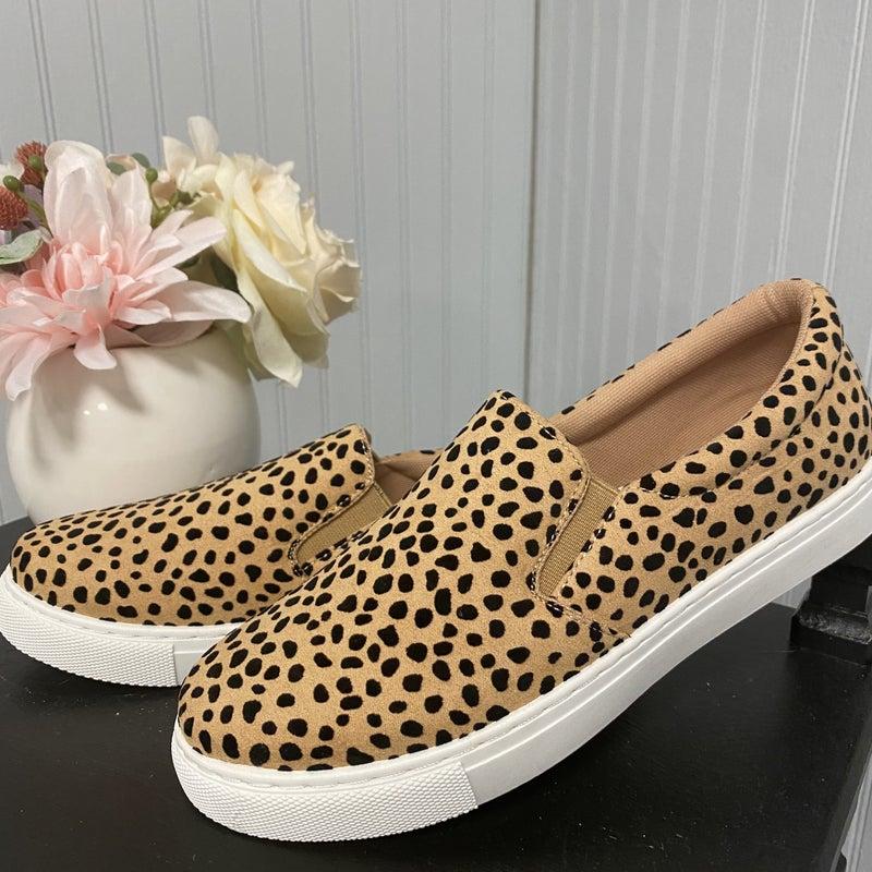 Cheetah Slide on Shoes