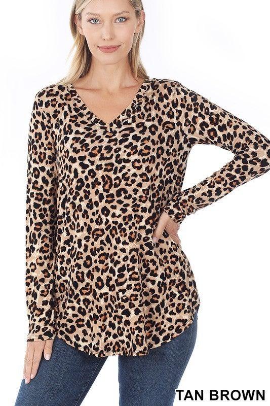 Z LS Leopard Print Top
