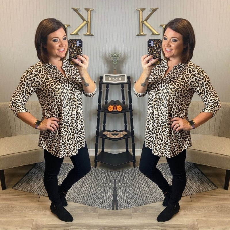 SIL Ivory Wild Leopard Top
