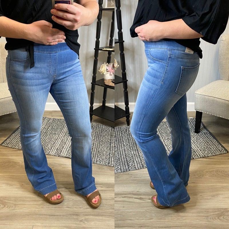Cello Medium Wash Flare Jeans