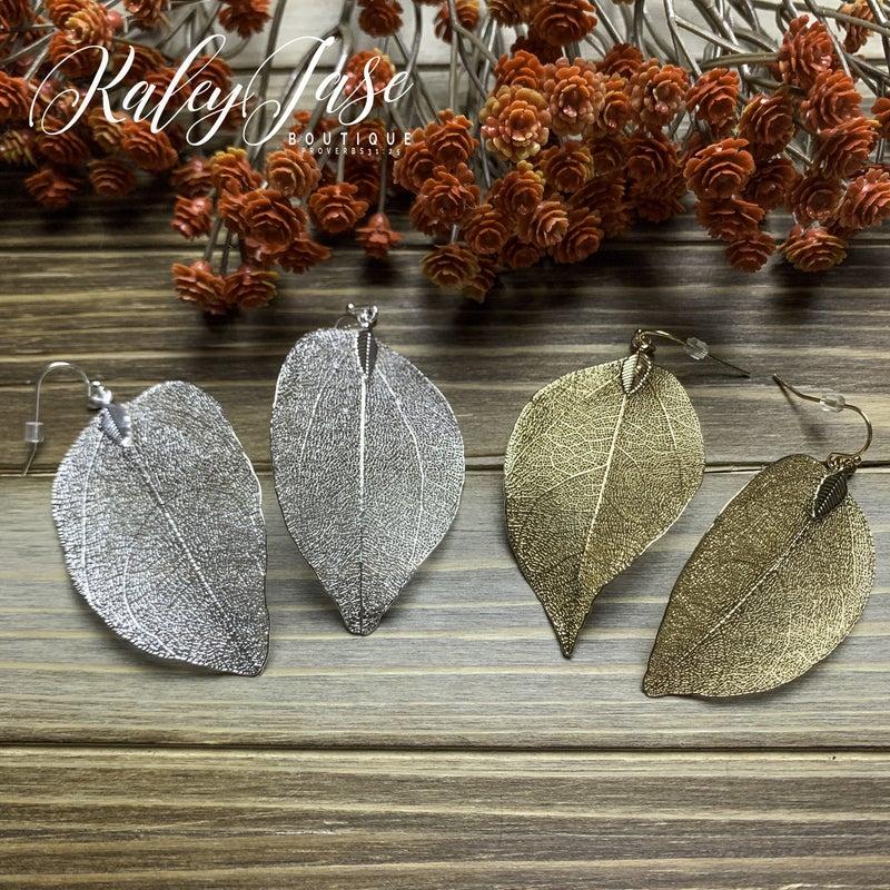 Dainty Leaf Earrings -C2