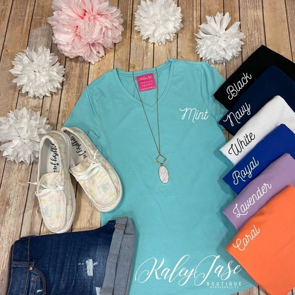 Deal of the Day Solid Fitted Vneck Top