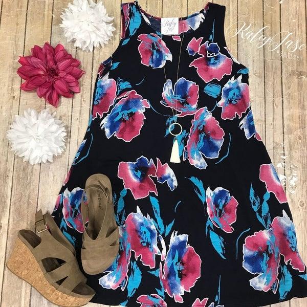 Watercolor Sleeveless Dress