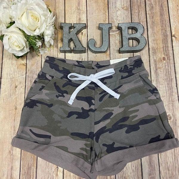 Camo Cuffed Lounge Shorts