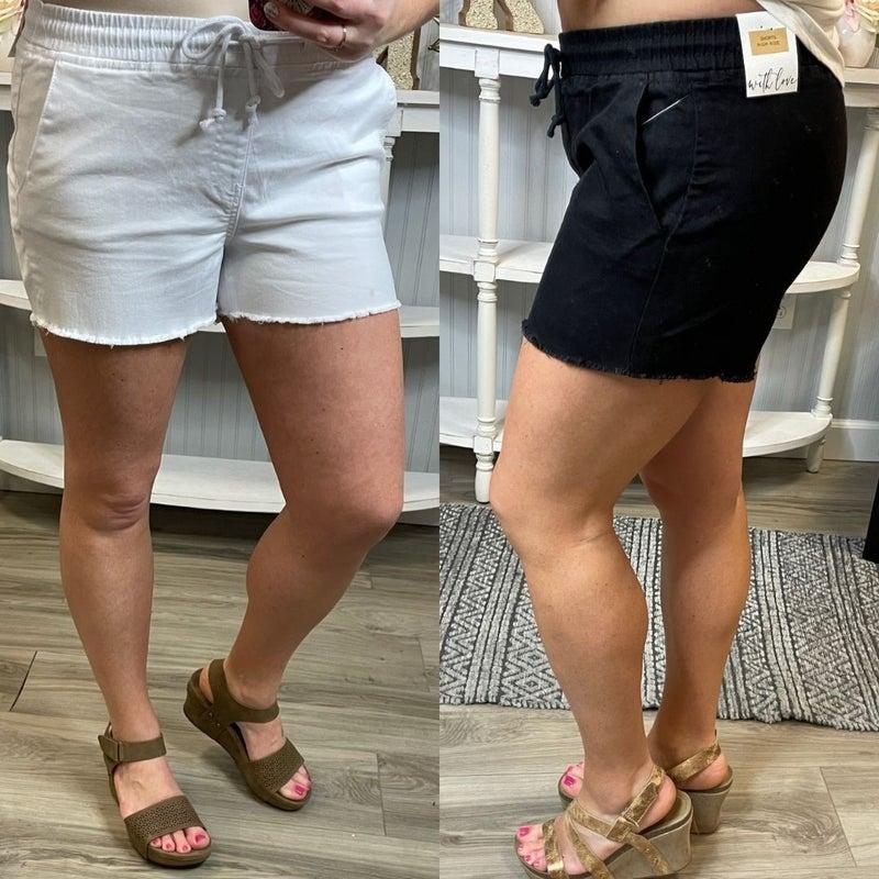 YMI Fringe Pull On Comfy Shorts