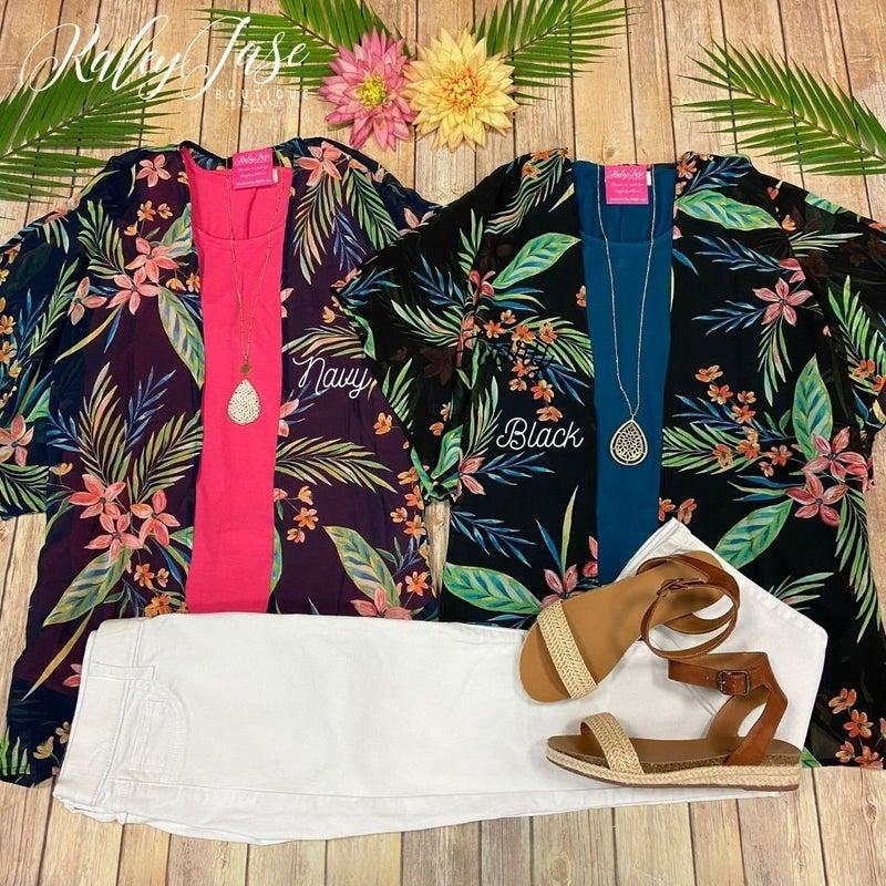 Tropical Chiffon Cardigan