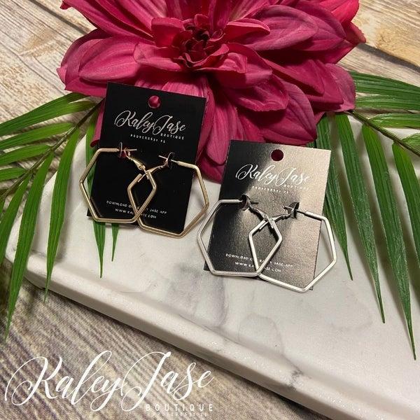Matte Hexagon Earrings