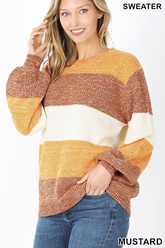 Melange Colorblock Sweater
