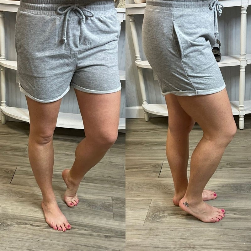 Hyfve Grey Elastic Lounge Shorts