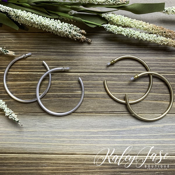 Simple Matte Tube  Hoops -H7