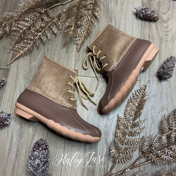 Nude  Duck Boots