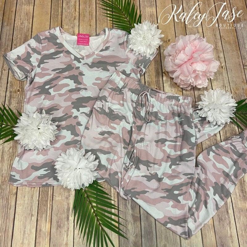 HM Soft Pink Camo PJ Set