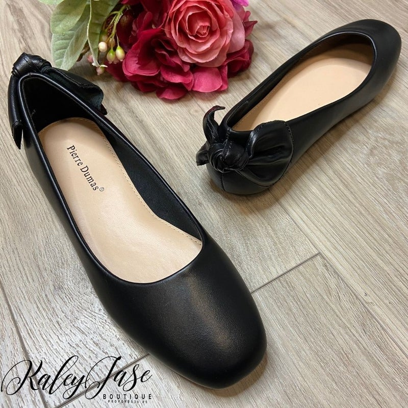 Solid Black Flats