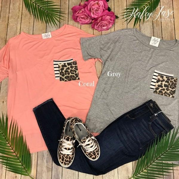 Leopard Double Pocket Hi Lo Top *Final Sale*