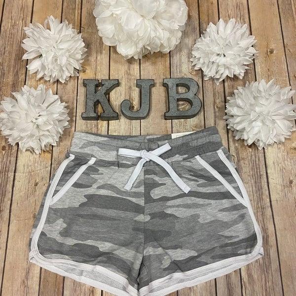 Grey Camo Lounge Shorts