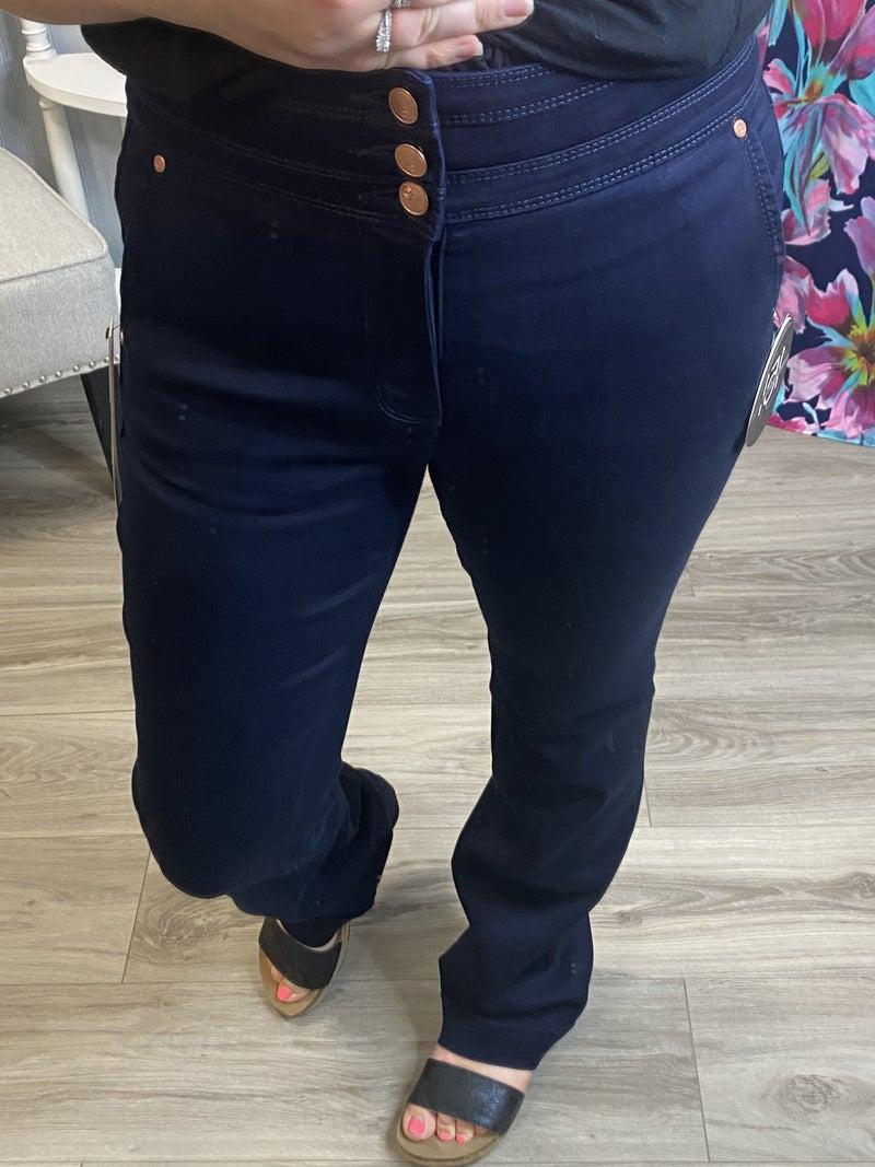 One5One Super Dark Triple Button Jeans