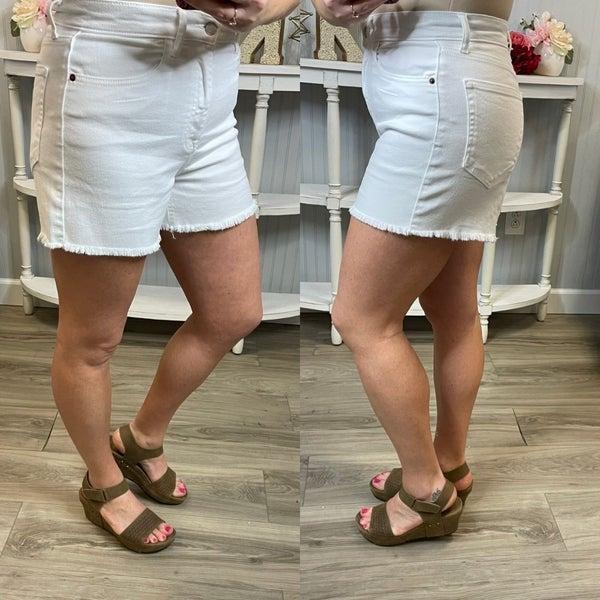 Cello White Frey Shorts