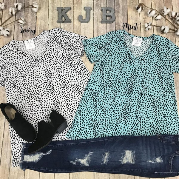 Little Spotted Leopard Vneck