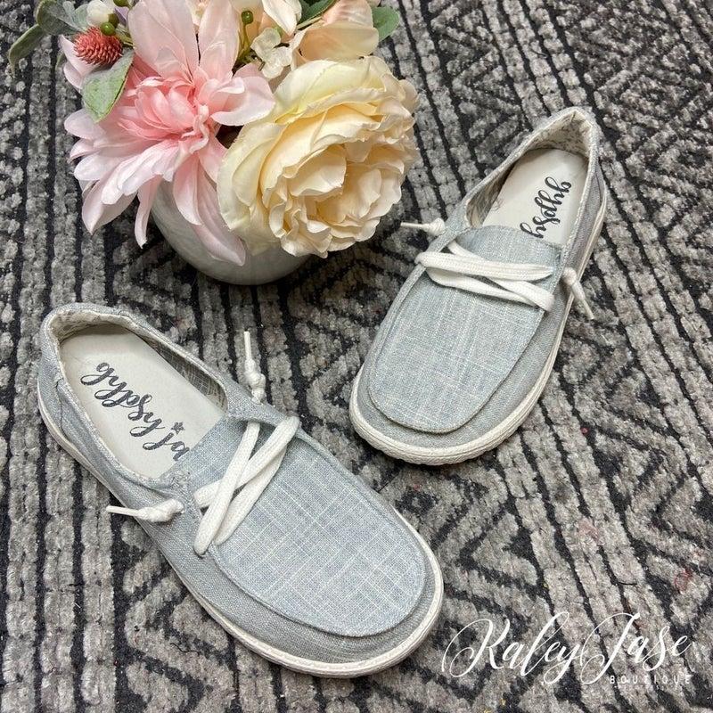 Very G Grey Slide on Shoe