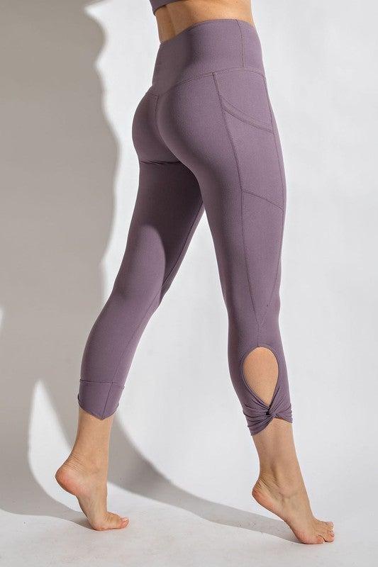 Rae Mode Buttery High Waist Side Detail Capri Leggings