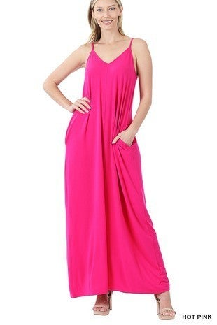 Z Solid Adjustable Oversized Maxi