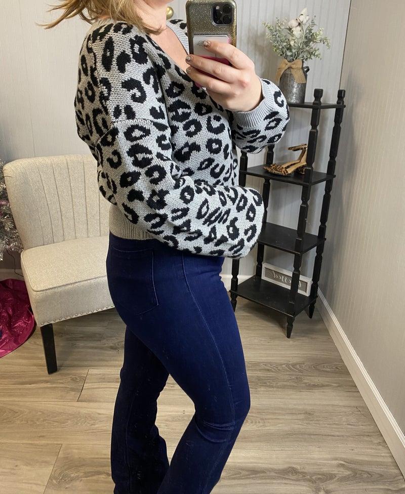 Leopard Crop Sweater