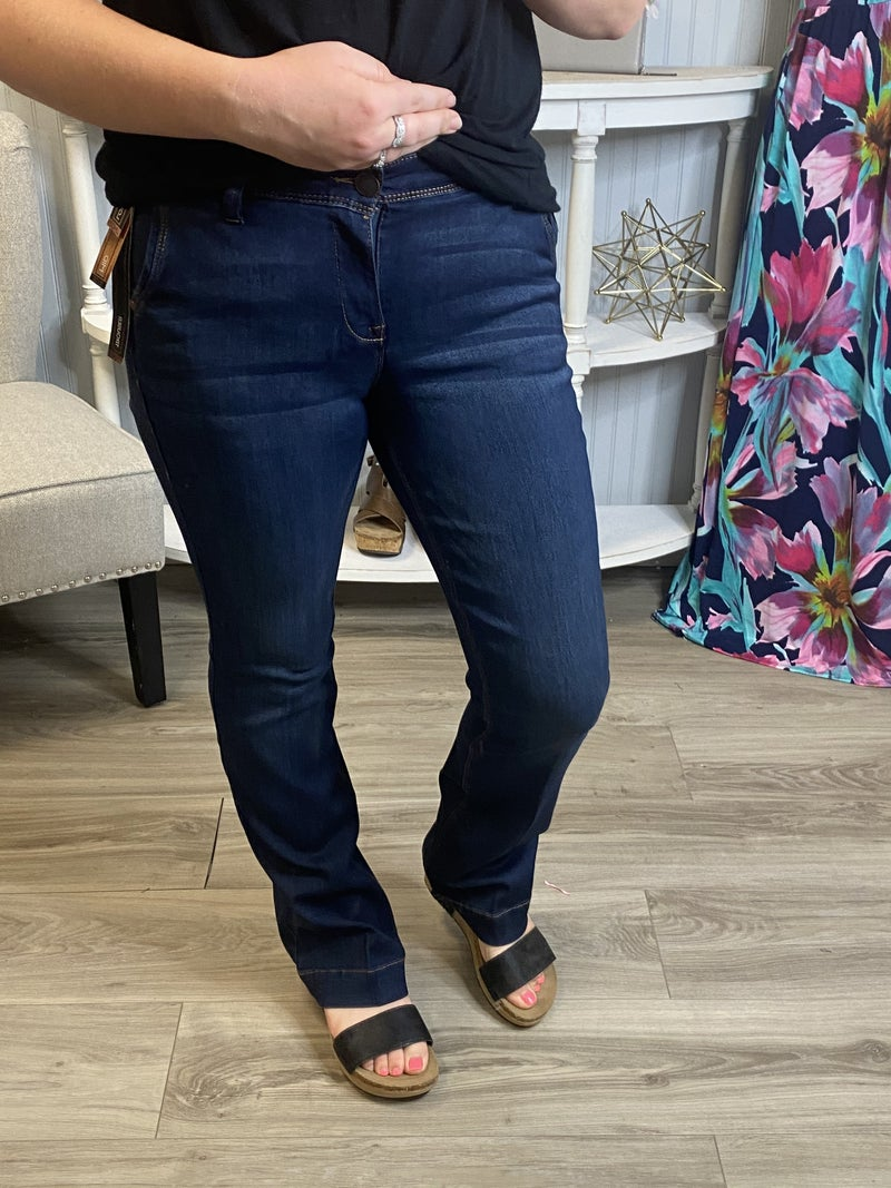 One5One Dark Wash Bootcut Jeans