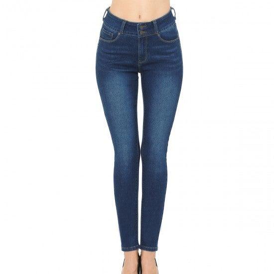 Dark Wash Stretch Ankle Skinny Jeans