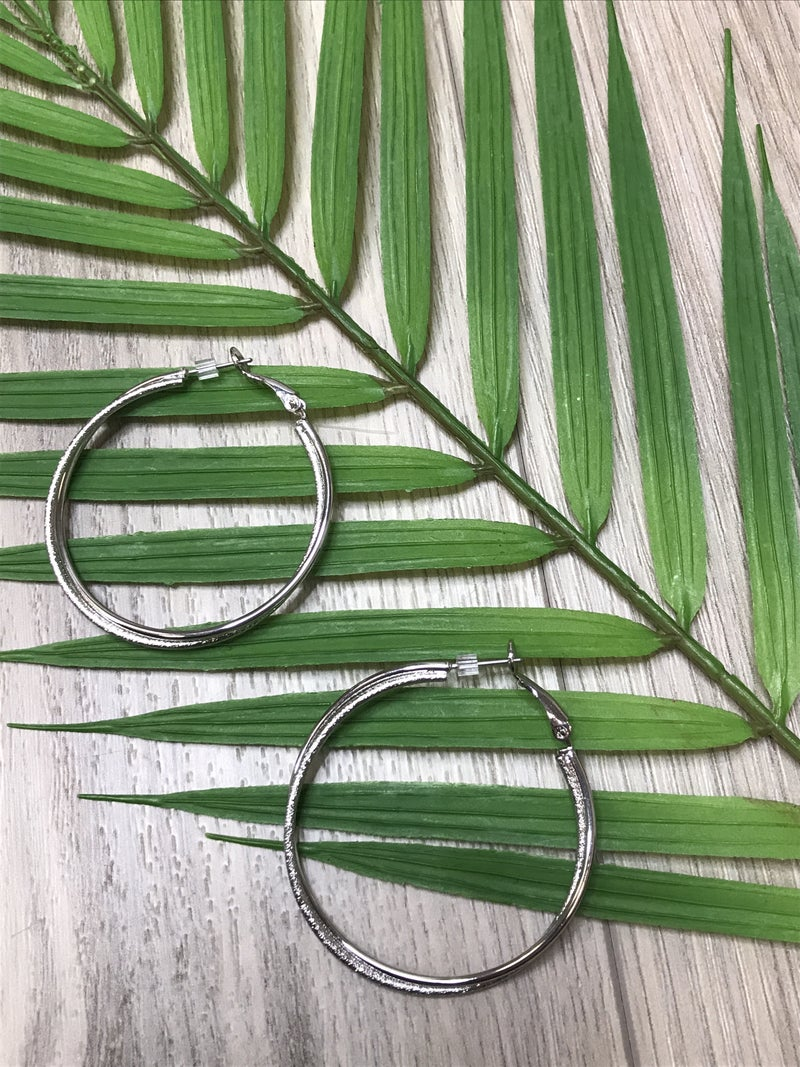 Silver Accented Hoops -D8