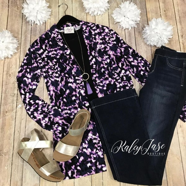Purple Tie Dye Cardigan